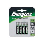 Energizer NH 12BP-4 - Battery 4 x AAA type NiMH 750 mAh - silver NH12BP-4