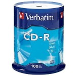 Verbatim CD-R 700MB 52X with Branded Surface - 100pk Spindle 94554