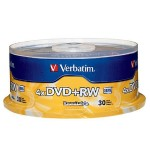 Verbatim 30 x DVD+RW 4.7 GB 4x - spindle - Storage media 94834