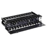 NetManager Horizontal Cable Manager - Rack cable management kit - 1U