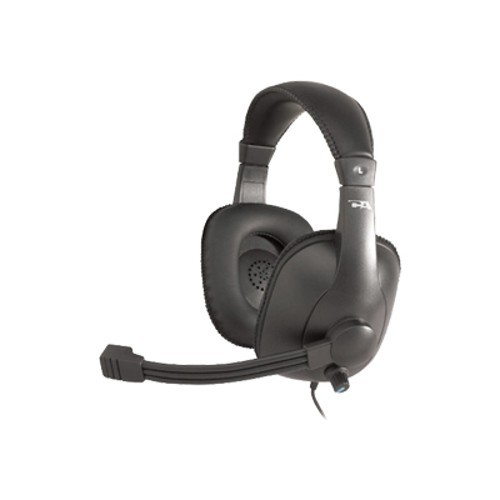 Cyber Acoustics Gradeheadset with mic and volume control - Headband Leatherette EarPad
