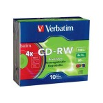 Verbatim 10Pack CD RW 80Min 700MB 4X-DataLifePlus - Storage media 94325