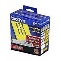 "Brother Continuous Length Film Label Black/Yellow 2-3/7"" DK2606"