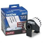 Brother 2.4 in x 50 ft (62 mm x 15.2 m) Black/Clear Continuous Length Film Label DK2113
