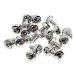 M5 Mounting Screws for Server Racks and Cabinets - 50 Pack - Screw kit (pack of 50) - for P/N: RKPW161915, 4POSTRACK25, 2POSTRACK, RK2236BKF, RK1219WALL, RK1219WALH, RK4242BKNS, RK4242BK, RK4236BKNS