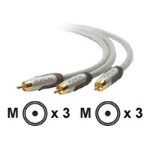 Belkin 4ft PureAV Component Video Cable 3RCA/3RCA AV51000-04