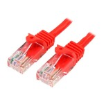 15 ft Red Cat5e / Cat 5 Snagless Patch Cable 15ft - Patch cable - RJ-45 (M) to RJ-45 (M) - 10 ft - UTP - CAT 5e - snagless - red