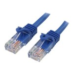 7 ft Cat5e Blue Snagless RJ45 UTP Cat 5e Patch Cable - 7ft Patch Cord - 7ft Snagless Patch Cable