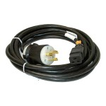 Power cable - NEMA L6-20 (M) to IEC 60320 C19 (F) - 15 ft - black