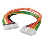 Power extension cable - 20 pin ATX (M) to 20 pin ATX (F) - 1 ft