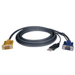 USB (2-in-1) Cable Kit for NetDirector KVM Switch B020-Series and KVM B022-Series, 10-ft.