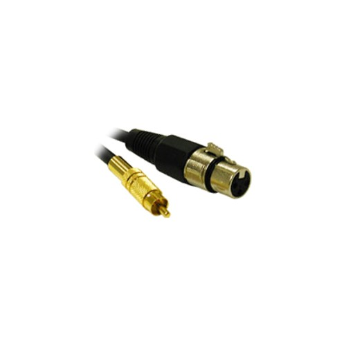 Cables To Go 25ft Pro-Audio XLR Female to RCA Male Cable