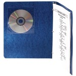 Storage media envelope - capacity: 1 CD - transparent (pack of 5 )