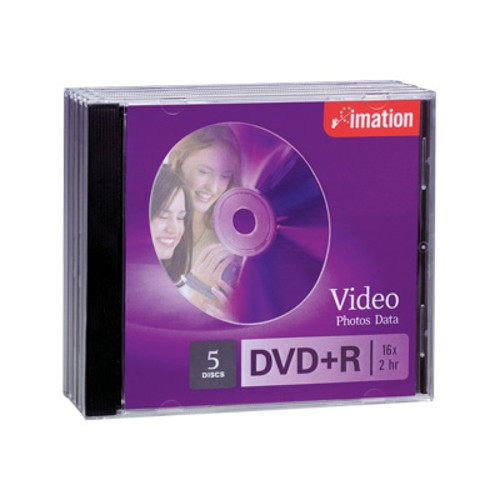 Imation DVD+R 4.7GB 16x 5 Pack