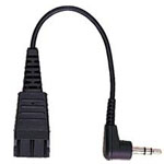 QD to 2.5mm Stereo Plug Headset Adapter