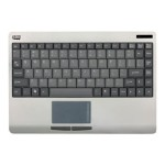 SlimTouch Wireless 2.4 GHz RF Mini Touchpad Keyboard - USB - Silver