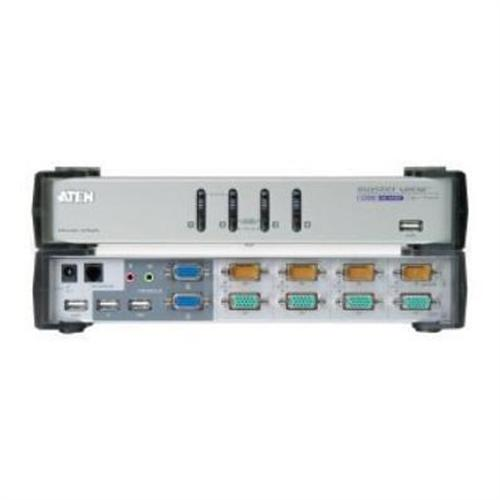 Aten Technology MasterView Dual-View CS-1744 - KVM/Audio /USB Switch - 4 Ports - 1 Local User