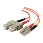 3m LC-SC 62.5/125 OM1 Duplex Multimode PVC Fiber Optic Cable - Orange