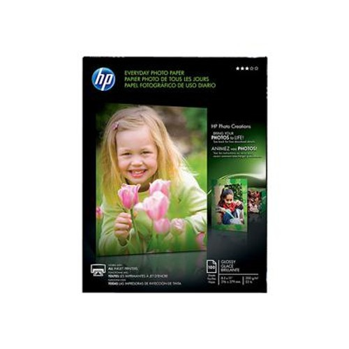 HP Everyday SG Photo Paper - 100 sht/8.5 x 11 in