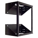 Wall Mount Swing-Away Relay Rack - Black