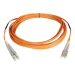 1M Duplex Multimode 50/125 Fiber Optic Patch Cable (LC-LC)