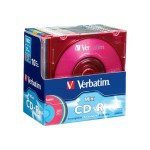 Verbatim 32x Pocket 185MB/21Min. Mini CD-R Media, Color,  10 Pack w/Slim Cases 94335
