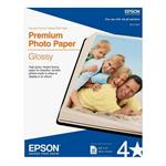 "Epson 8.5"" x 11"" Premium Photo Paper Glossy - 50 Sheets S041667"