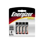 Max E92BP-4 - Battery 4 x AAA alkaline (Minimum Order Quantity = 12)