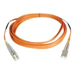 TrippLite 100M Duplex Multimode 50/125 Fiber Optic Patch Cable LC/LC 328' 328ft 100 Meter - Patch cable - LC multi-mode (M) to LC multi-mode (M) - 328 ft - fiber optic - 50 / 125 micron - orange N520-100M