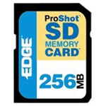 Edge Memory 256MB ProShot 60x Secure Digital (SD) Card PE200510