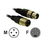 Pro-Audio 12ft Pro-Audio XLR Male to XLR Female Cable - Audio cable - XLR3 (M) to XLR3 (F) - 12 ft - SFTP - black
