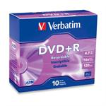 10Pack DVD+R 4.7GB 16X-Branded with Slim Jewel case