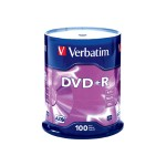 100 x DVD+R - 4.7 GB (120min) 16x - spindle