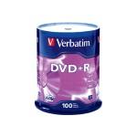 100 x DVD+R - 4.7 GB (120min) 16x - spindle
