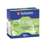 Verbatim 10Pack CD-RW 80 Min. 700MB 2X-4X - Storage media 95170