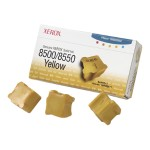 Genuine  - 3 - yellow - solid inks - for Phaser 8500DN, 8500N, 8550DP, 8550DT, 8550DX