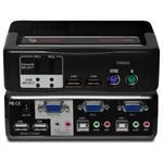 SwitchView MultiMedia - 2 port KVM switch with USB 2.0 Hub included