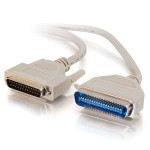 6ft IEEE-1284 DB25 Male to Centronics 36 Male Parallel Printer Cable - Beige