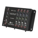 4-Output Component Video + Audio Distribution Amplifier - Video/audio splitter - desktop