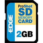 Edge Memory 2GB ProShot 130x Secure Digital (SD) Card PE201265