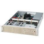Xeon Server Barebone - Rack-mount 2 U  (Black)