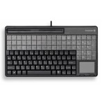 SPOS G86-61410 - Keyboard - with magnetic card reader - USB - black