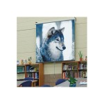 "Luma Matte White Manual 84""x84"" Projection Screen"
