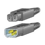 Cisco Jumper - Power cable - IEC 60320 C14 to IEC 60320 C15 - 2.3 ft - for MDS 9020, 9120, 9140, 9216, 9216A, 9216i CAB-C15-CBN=
