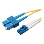 2M Duplex Singlemode 8.3/125 Fiber Optic Patch Cable LC/SC 6' 6ft 2 Meter - Patch cable - LC single-mode (M) to SC single-mode (M) - 6.6 ft - fiber optic - 8.3 / 125 micron - riser - yellow