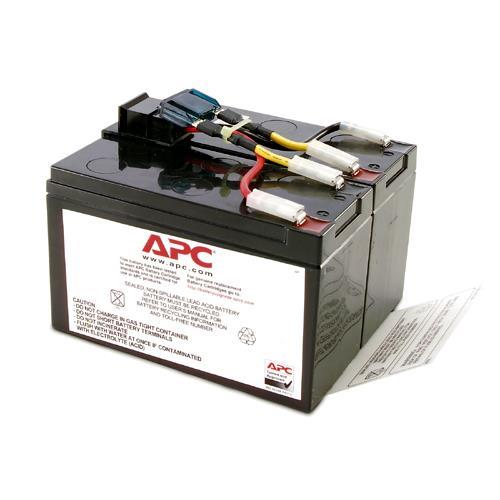 APC by Schneider Electric Replacement Battery Cartridge #48 - UPS battery -  1 x lead acid - for P/N: DLA750, DLA750I, SMT750, SMT750C, SMT750I,
