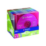 Verbatim 4x DataLifePlus 700MB/80 Min. CD-RW Media, Color, 20 Pack w/Slim Jewel Cases 94300