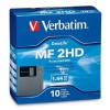 "Verbatim 1.44MB 3.5"" Floppy Disk, PC Formatted, 10 Pack"