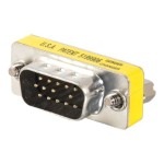HD15 VGA M/M Mini Gender Changer (Coupler) - VGA cable - HD-15 (M) to HD-15 (M) - silver, yellow