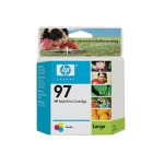 97 - 14 ml - color (cyan, magenta, yellow) - original - ink cartridge - for Officejet 100, 150, H470; Photosmart 26XX, 27XX, 375, 42X, 81XX, 84XX, 87XX; psc 23XX